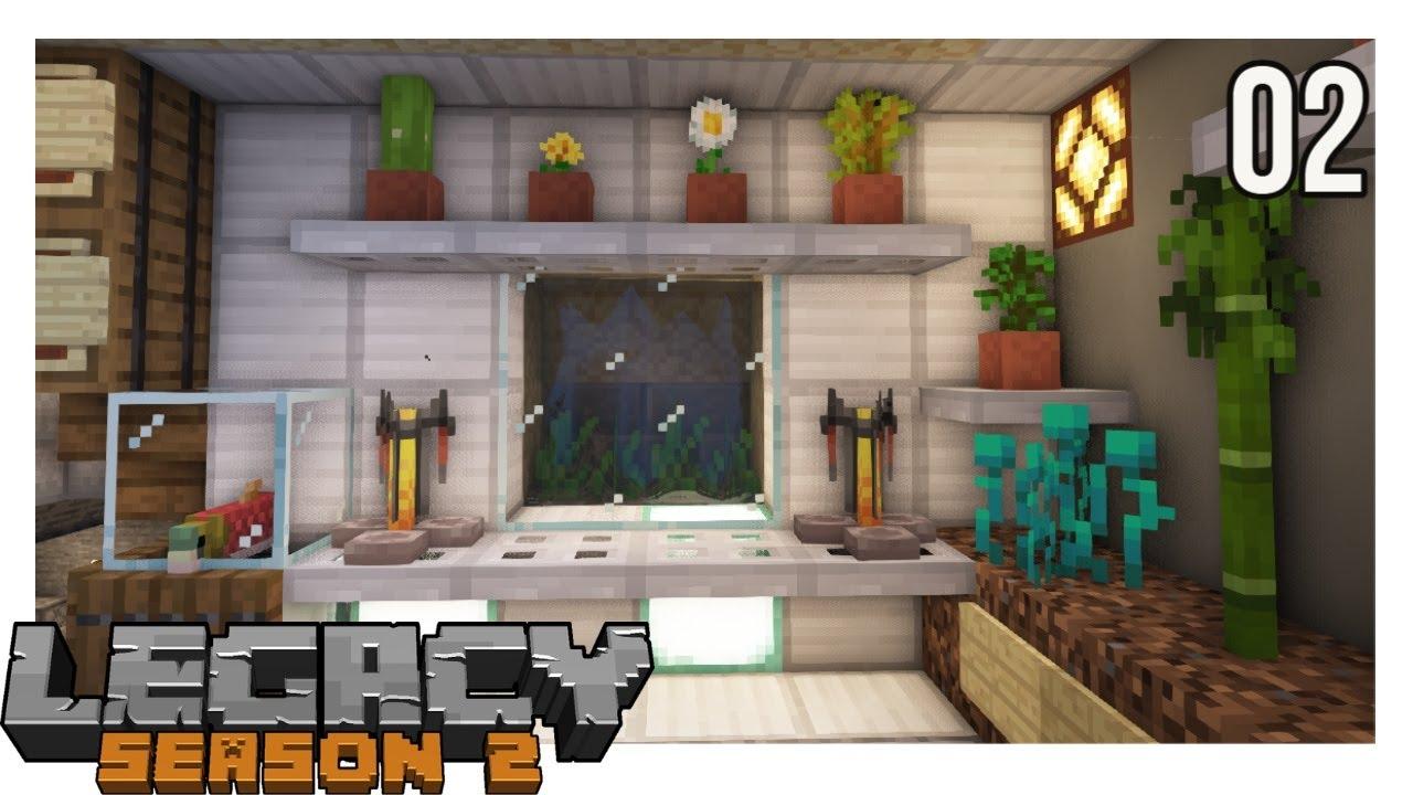 Legacy SMP Episode 2 : SUPER SECRET REDSTONE DOOR! SHHH