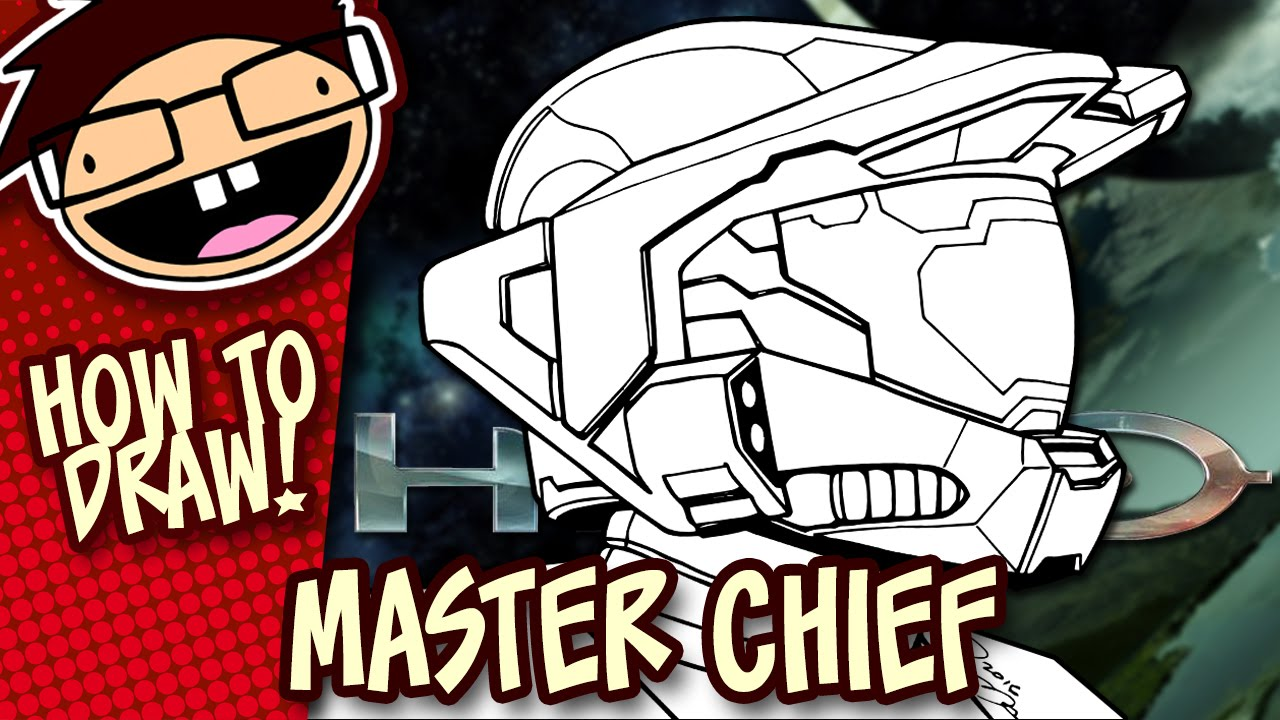 How To Draw Master Chief Halo Easy Step By Step Drawing Tutorial