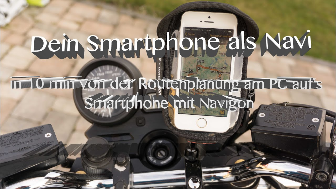 dein smartphone als navi mit navigon tourenplanung f r motorradfahrer youtube. Black Bedroom Furniture Sets. Home Design Ideas