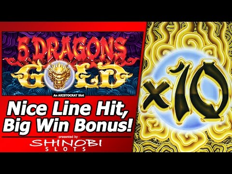 5 Dragons Gold Slot Nice Line Hit And Free Spins Big Win