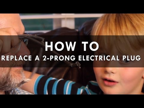 how to replace a 2 prong electrical plug youtube. Black Bedroom Furniture Sets. Home Design Ideas