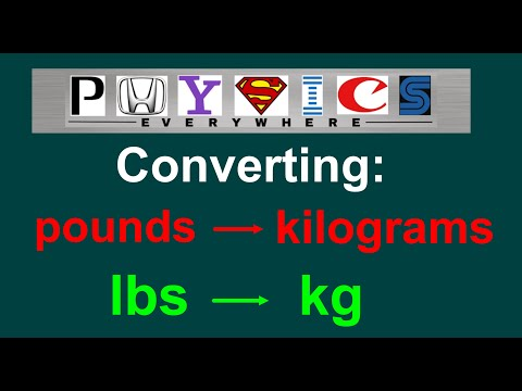 Easy Converting Pounds Lbs To