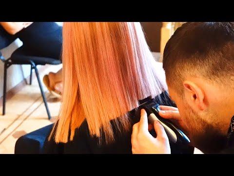 lob-haircut-–-pink-blunt-cut-bob-with-bangs