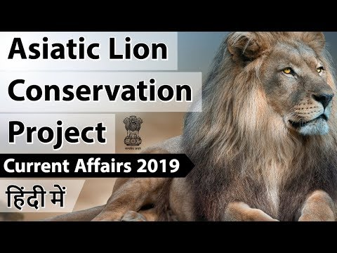Asiatic Lion Conservation Project एशियाई शेरों पर संकट Current Affairs 2019