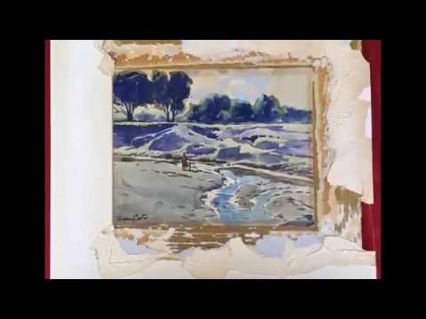 Bellingan Scott Restoration - Sydney Carter Watercolour, Time Lapse Of Restoration