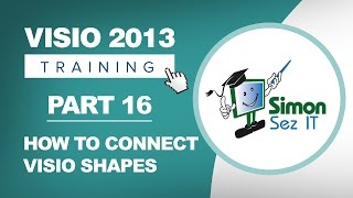 Visio 2013 for Beginners - Part 16 - Connecting Visio Shapes Using Lines and Dynamic Glue