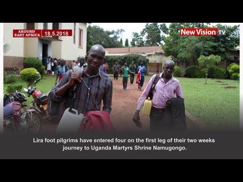 Around East Africa: Pilgrims start walking to Namugongo