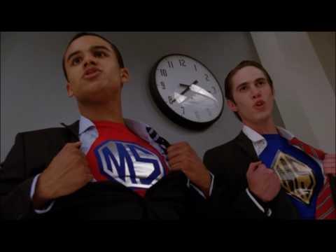 Glee - Superman (Full performance + fight scene) 4x07