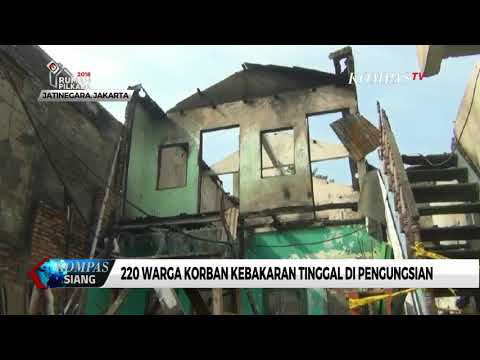 220 Korban Kebakaran di Bidara Cina Tinggal di Pengungsian