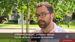 Stephane Beaulac: Lu Chan Khuong Affair / Suspension de la bâtonnière (Téléjournal)