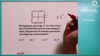 LGS MATEMATİK Üslü Sayılar Soru Çözümü