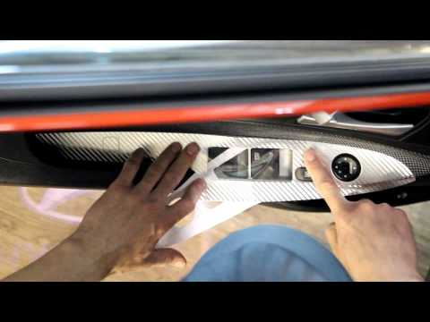 Наклейки на пластиковые вставки управления стеклоподъемником Hyundai Solaris