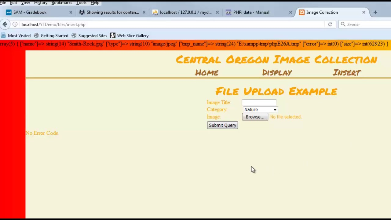 Validating file uploads php editor