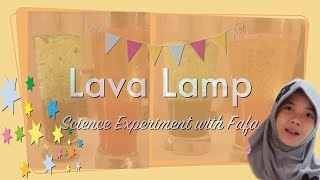 Lava Lamp - science experiment for Kids
