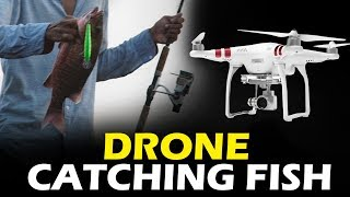 #Drone Catching Fish - Fishing with Fly Camera - Shocking Style of Fishing Skills