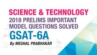 GSAT - 6A | 2018 PRELIMS IMPORTANT MODEL QUESTION SOLVED | SCIENCE & TECHNOLOGY | NEO IAS
