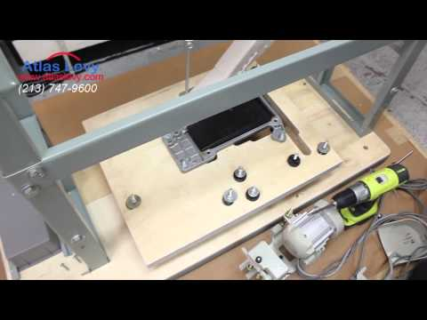 Table/Motor Assembly Instructions for overlock sewing machines  video  2