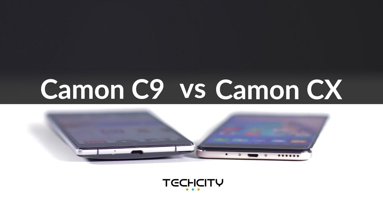 TECNO CAMON C9 VS CAMON CX