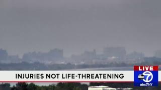 Cars burning at parking garage in Brooklyn