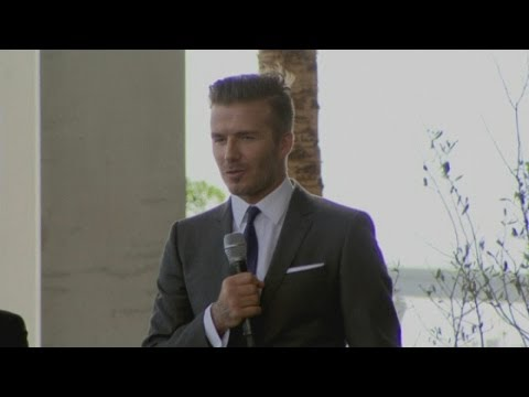 David Beckham Press Conference: Football star buys MLS franchise in Miami