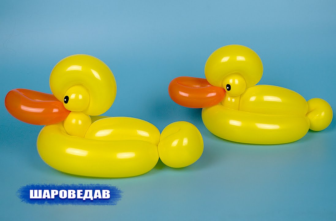 how to make a balloon duck