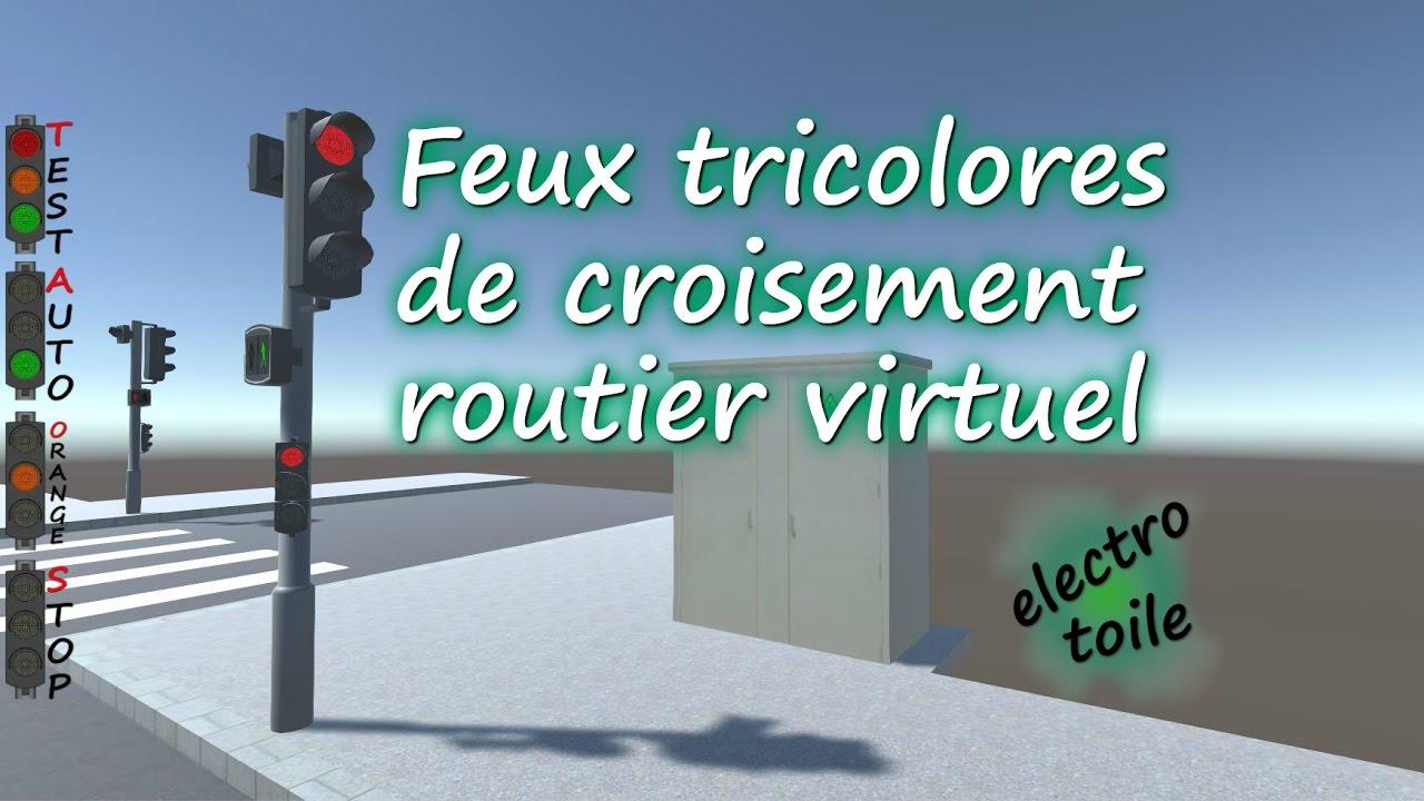 feux tricolores de croisement routier virtuel youtube. Black Bedroom Furniture Sets. Home Design Ideas