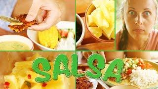 Рецепт: Ананасовая сальса и вегетарианские котлетки из овощей