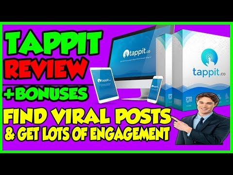 Tappit Review - Free Automated Traffic & Lots Of Engagement With This Software 2018. http://bit.ly/2Zigr29