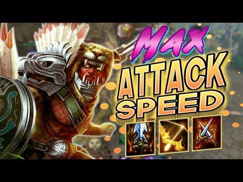 Smite: Max Attack Speed Xbalanque Build - I LOVE SHIELDS SO MUCH