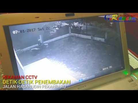 CCTv detik-detik penembakan di Jalan Hasanudin Pekanbaru