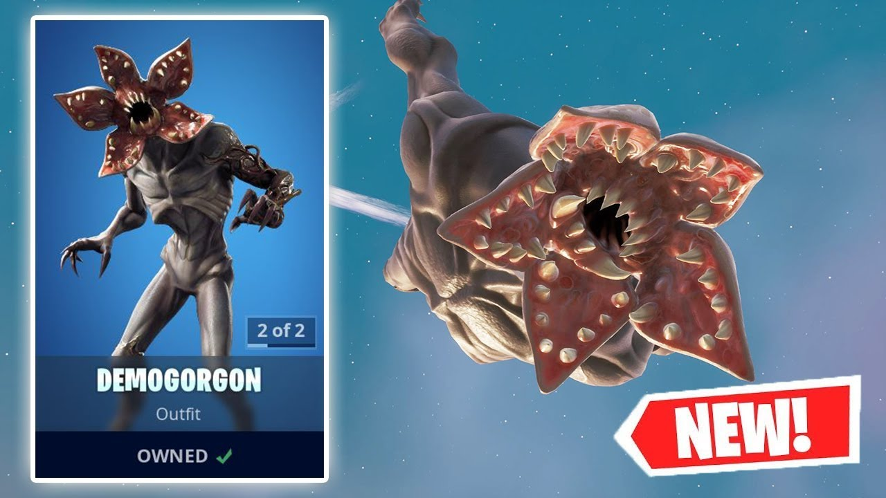 NEW DEMOGORGON Skin Gameplay in Fortnite! - YouTube