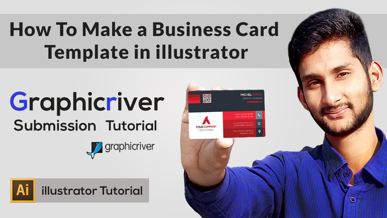 How to make a business card template in illustrator for How to make a business card in illustrator