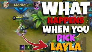What Happens When You Pick Layla on Ranked? | Perfect Layla Gameplay by Batute