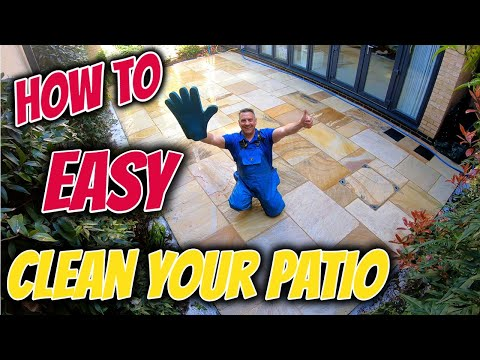 pressure washer patio cleaning indian sandstone part 2