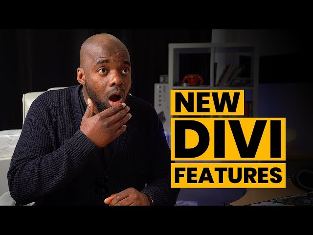 Divi theme new features - New Divi Features
