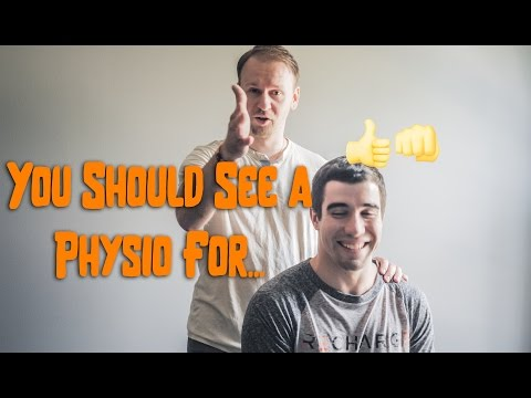 You should see a physio for... Delayed Onset Muscle Sorness (DOMS)