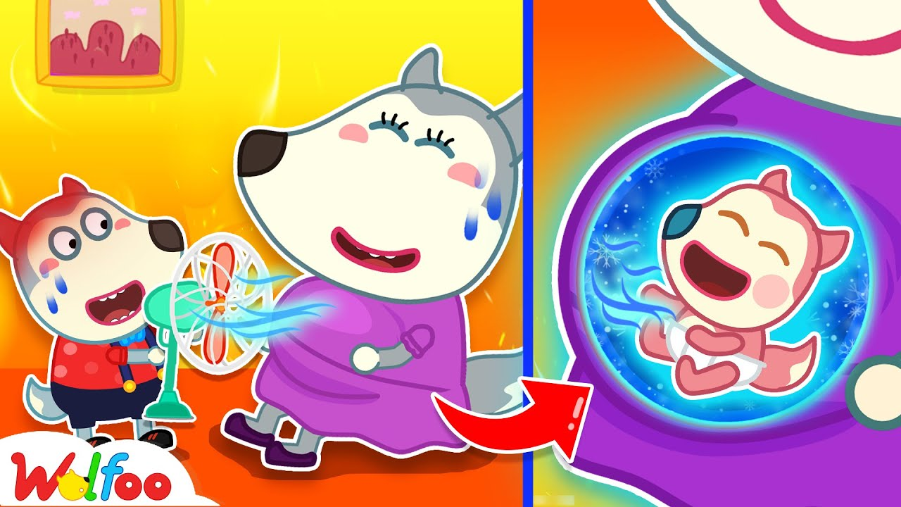 Wolfoo! Baby Wants to Feel Cool - Wolfoo Kids Stories About Baby | Wolfoo Family