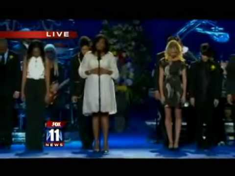 Michael Jackson Funeral - Jennifer Hudson Singing
