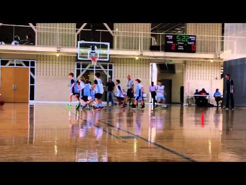 William Hopper playing basketball