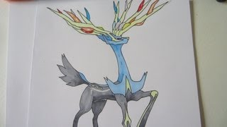 [Tutorial] How to draw Xerneas from Pokemon X ゼルネアス