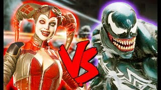 Harley Quinn Vs Venom Army - Epic Battle - Injustice 2 Costume Skin Mod