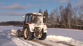 Ceļu tīrīšanu ziemā Kocēnu novadā veic vietējie zemnieki