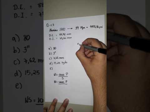 Questão 1.4 - tubulações industriais - número de série  (schedule number)