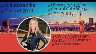 GIA ROZADILLA-2019 LIBERO-CENTRAL CAL 16-1 NCVA PRESIDENTS DAY-DAY 3 highlights 2016(HD)