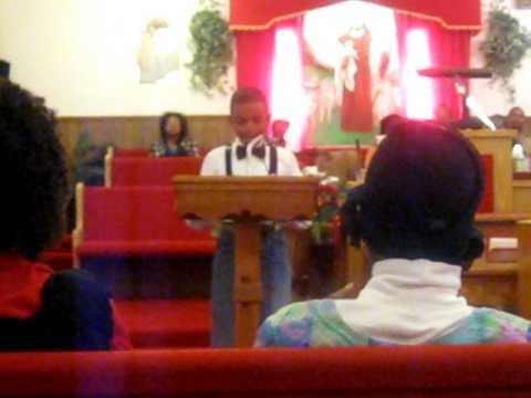 Josh speaking some MLK quotes at black history program