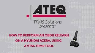 OBD TPMS relearn on a Hyundai Azera using the VT56 TPMS Diagnostic Tool