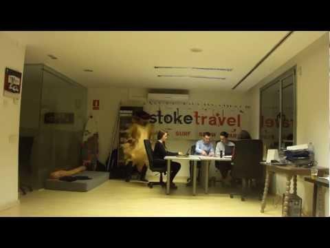 Harlem Shake, Stoke Travel Office Barcelona
