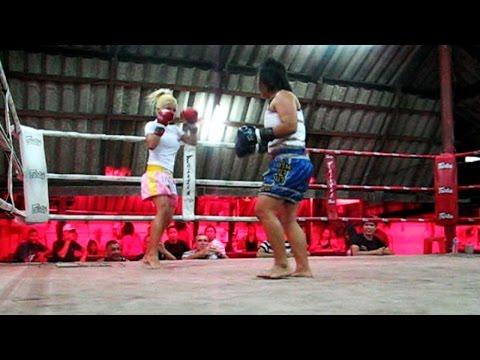 FILIPINA VS THAI GIRL _ MUAY THAI BATTLE