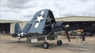 warbirds over addison f4u corsair startup