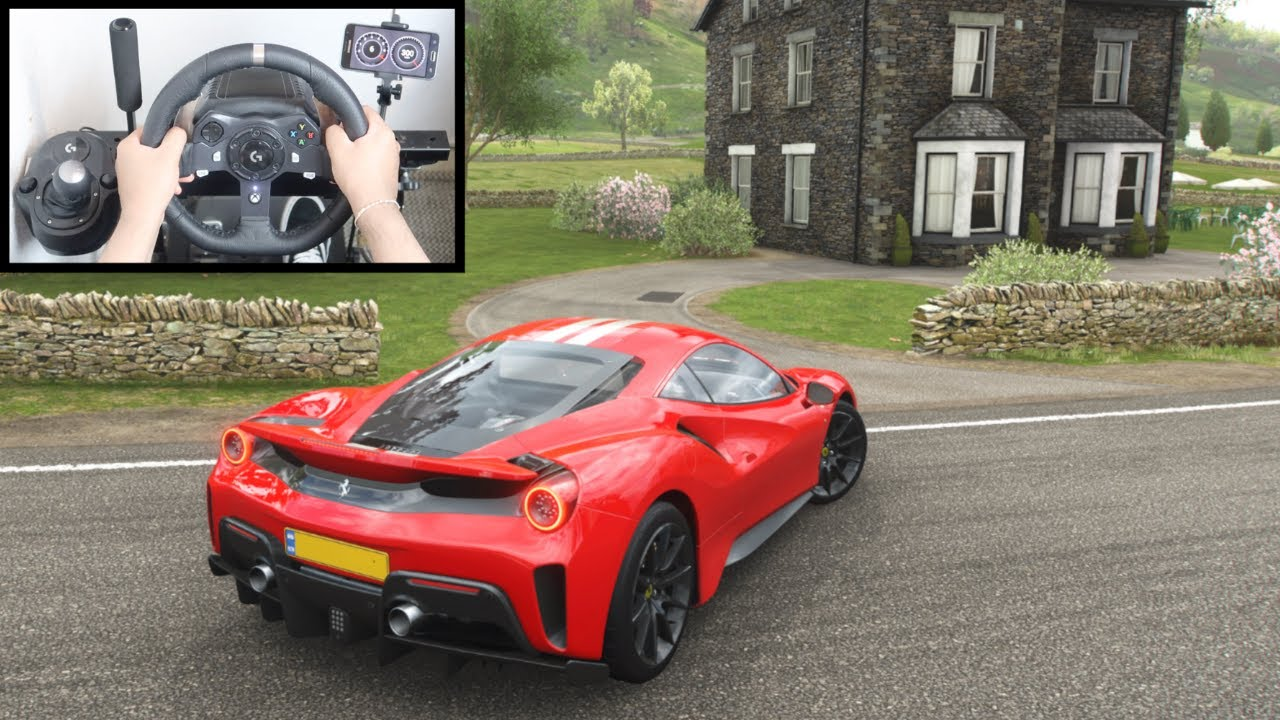 Forza Horizon 4 Ferrari 488 Pista (Steering Wheel + Paddle Shifter) Gameplay